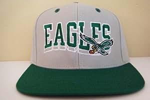 vintage retro NFL phillies eagles font logo green under bill / visor snapback hat cap
