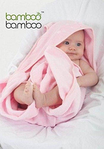 Toalla de Bambú Orgánico para Baño con Capucha para Bebé Naturalmente Hipoalergénica Antibacterial y Ultra suave