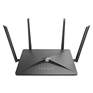 D-Link WiFi Router, AC2600 MU-MIMO Dual Band Gigabit 4K Streaming and Gaming with USB Ports, 4x4 Wireless Internet for Home (DIR-882-US)
