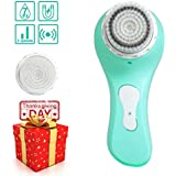 MiroPure Sonic Facial and Body Cleansing Brush, Professional Electric Face Brush 2 In 1 Waterproof Portable Wireless Charging Cleaning brush for All Skin Exfoliating Deep Cleaning