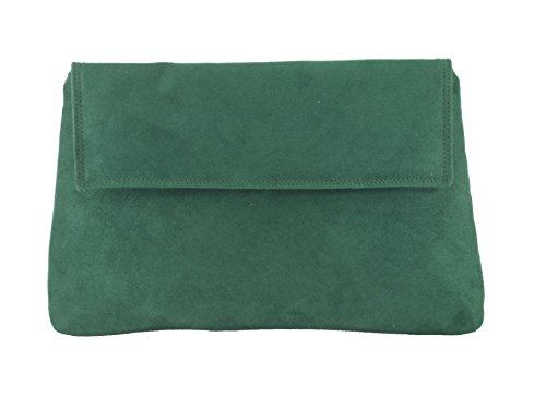 LONI Cross Bag Purse Womens Clutch Charming body Green Shoulder Suede Faux Forest XrXqO
