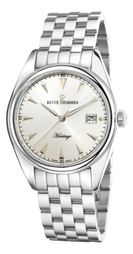 Revue Thommen Men's 21010-2132 Heritage Analog Display Swiss Automatic Silver Watch