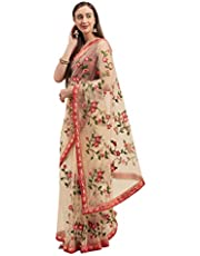 Womanista Net Saree with Blouse Piece
