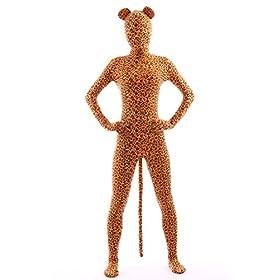 - 41zM7vZWfnL - Animal Costume Leopard Pretend Play Rabbit Ear Kids Zentaisuit Lycra Spandex Bodysuit