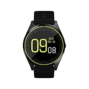 Efanr V9 Bluetooth Smart Watch with Camera Sim Card Slot, Wrist Watch Smartwatch Pedometer Fitness Activity Tracker Monitor for Android Samsung IOS iPhone X 8 Plus Men Women (Black)