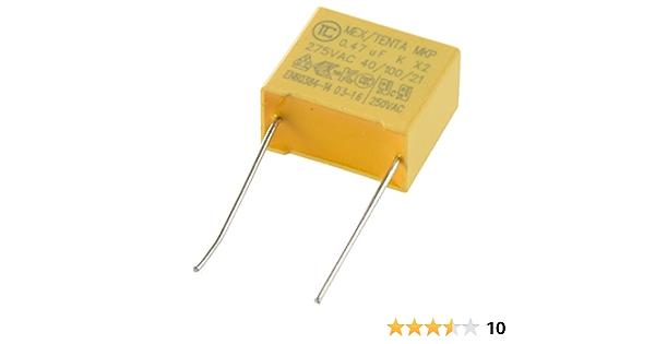 10 X 1uF 400 V Condensador de dieléctrico metalizado película de poliéster ± 10/%