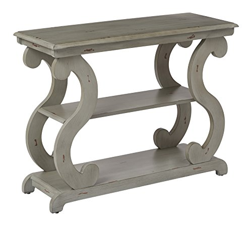 OSP Designs ASHCSL-YM19-osp Ashland Console Table, Antique Grey For Sale