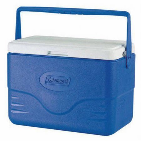 Ice - Cooler 28-Quart ce Chest. This Ice Box Is The Best Way To Keep Food, Drinks & Beer Cool For Outdoor Party, Camping, Travel, Picnic, Fishing, BBQ, Beach, Sports And Pool. (Blue)