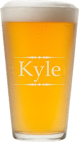 Personalized Pint Glass with Laser Engraving, 16 oz - -