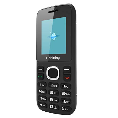 Ushining Feature Mobile Phone GSM 2G Unlocked Cell Phone -Black Only for 2G T-Mobile