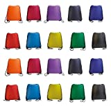 Cheap IMI bag 20PCS Folding Ripstop Fabric Drawstring Backpacks for Gym Traveling Partys Promotional Sport Home Storage.NO Logo School Kids Bags (MIX)