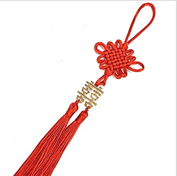 Wooya Double Happiness Chinese Knot Small Pendant Red Envelope Decoration Chinese Knot With Spike High-End Invitation Chinese Knot Tassel-Gold