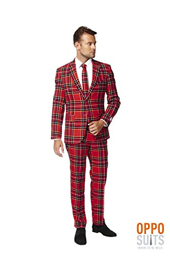 [OppoSuits Lumberjack Party Costume Suit With Adjustable Hem tape (46)] (Mens Lumberjack Costumes)