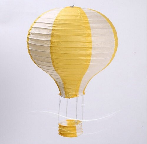 Worldoor-1230cm1640cm-Rainbow-Hot-Air-Balloon-Paper-Lantern-Kids-Birthday-Party-Wedding-Decoration-22-Colours-for-choose-5-Pack-12-inch-White-Yellow
