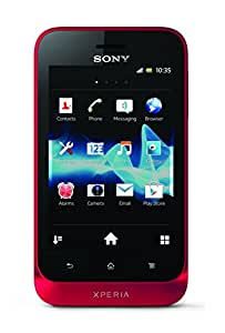 """Sony Xperia Tipo - Smartphone Yoigo libre (pantalla de 3,5"""" 320 x 480, cámara 5 Mp, 4 GB, procesador de 0.8 GHz), rojo"""