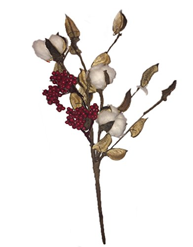 Christmas Floral Cotton Berry Pick 14 - Christmas Floral
