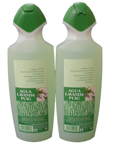 (2 Agua Lavanda Cologne 750ml/25.5oz.)