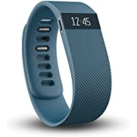 Fitbit Charge Wireless Activity & Sleep Small Wristband with Watch Display (Blue)