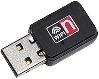 Libertroy Mini portátil de 150Mbps MT7601 Adaptador inalámbrico WiFi USB 802.11 B/G/N Tarjeta de Red LAN Dongle de Alto Rendimiento - Negro