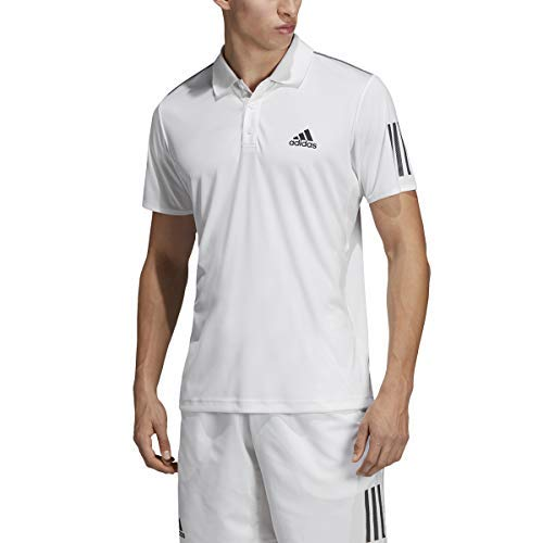 ce7e5b68 adidas Men's Club 3-Stripes Tennis Polo Shirt, White/Black, XX-Large