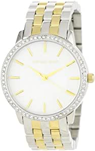 Michael Kors Accented Bezel Watch For Women - Analog Stainless Steel Band - Mk3139, Quartz Movement