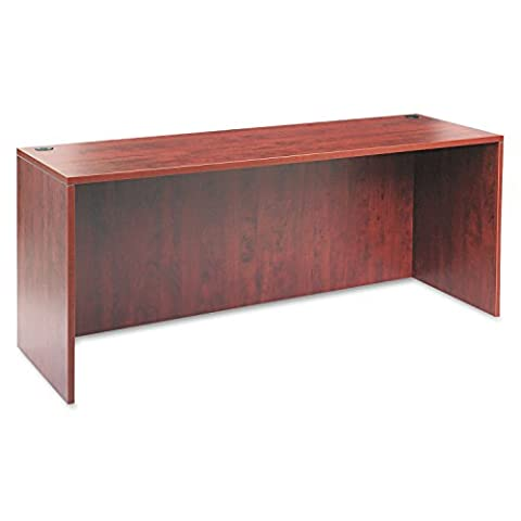 Alera VA257224MC Valencia Series 72 by 24 by 29-12-Inch Credenza Shell, Medium Cherry Frame/Top - Standard Height Cherry