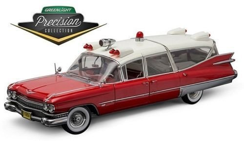 Greenlight Precision Collection 1966 Cadillac S&S 48 High Top Ambulance Vehicle, Red/White from Greenlight