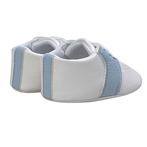 Pictures of Kuner Newborn Baby Boys Girls Pu Leather White+sky Blue 3