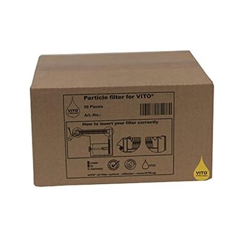 Aceite de Freir - 50 Filtros para filtradora de aceite Vito 50/80: Amazon.es: Hogar