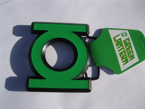 Official 3D GREEN LANTERN Belt Buckle cut out Logo ()