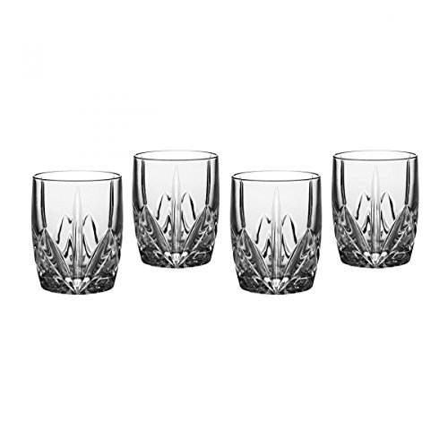 Marquis by Waterford Brookside 12-Ounce Double Old Fashion Glasses Set of (Waterford Crystal Old Fashioned Glass)