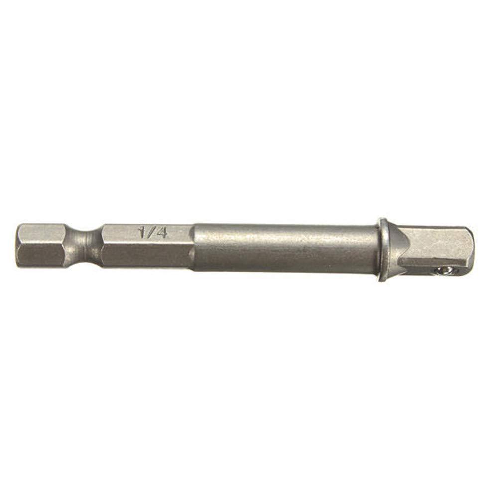 Doolland 3-teiliges Steckschl/üssel-Adapter-Set 1//4 3//8 1//2 Zoll Akku-Bohrer