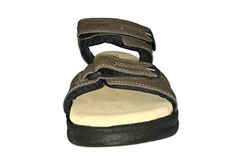 E Sandalo Comodo Grisport Di Con Outdoor Uomo Suola Regolabile Da Marrone Profilo Cinturino wFHpHSyqc