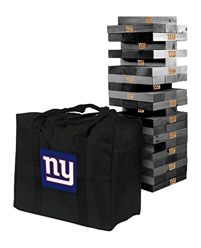 NFL New York Giants New Onyx Stained Giant Wooden Tumble Tower Game, Multicolor, One Size by Victory Tailgate