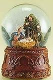 "6.5"" Musical Nativity Scene with Mary, Joseph and Jesus Christmas Glitterdome"