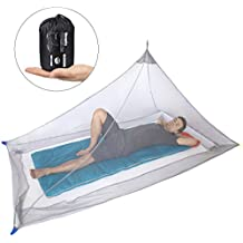 Dimples Excel Mosquito Net for Single Camping Bed - 250 Holes per Square Inch, Compact and Lightweight (GREY)