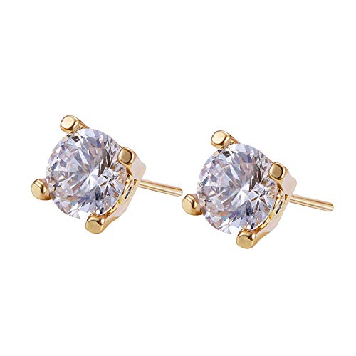 8Ninegift Fashion Earring Gold Color Plated Jewelry Wedding Stud Earrings for Women Special