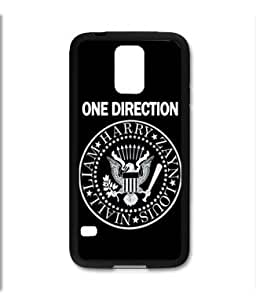 Samsung Galaxy S5 SV Black Rubber Silicone Case - One Direction 1D Seal