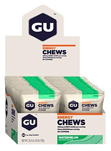GU Energy Chews, Watermelon, 24 Count