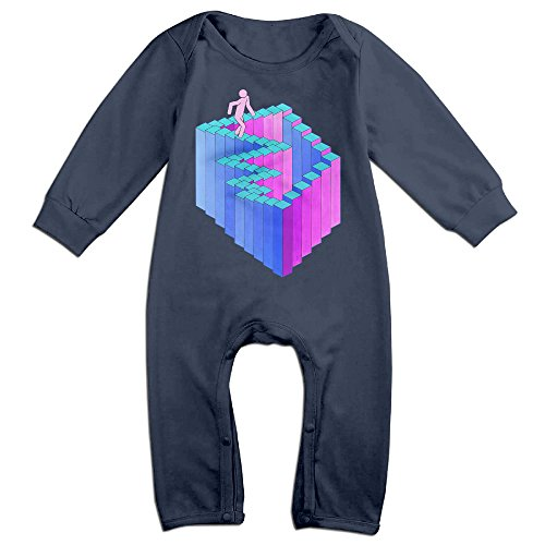 Price comparison product image Penrose Stairs Baby Cool Jumpsuit Romper Climbing Clothes Navy