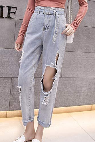 Rgulirement Femmes De en Denim Les Tout Jeans Ceinture Bleues en Pantalons Claires Pantalon 0STqxq6