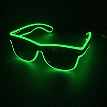 Decotrend-Line Gafas de Sol con Tira de luz LED, Color Verde ...