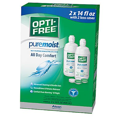 Opti-Free Replenish Multi-Purpose Disinfecting Solution with Lens Case, Twin Pack, 10-Ounces Each ALCON875617