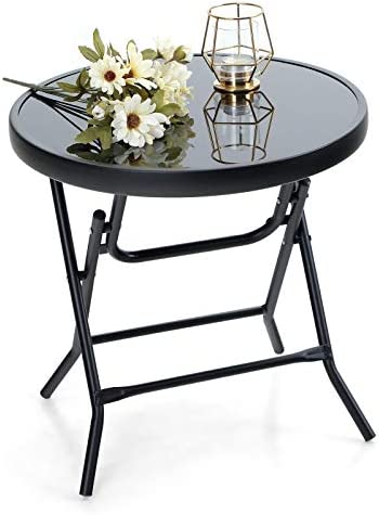 Captiva Designs Outdoor Side Tables-Foldable Patio Side Table
