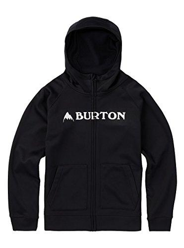 Burton Boys Bonded Full-Zip Hoodie, True Black, X-Small by Burton