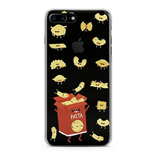 Lex Altern iPhone Apple TPU Case Xs Max Xr 10 X 8 Plus 7 6s 6 SE 5s 5 Clear Cute Pasts Box Red Hungry Yellow Funny Macaroni Silicone Cover Protective Flexible Girls Kawaii Design Women Transparent -