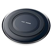MoKo Fast Wireless Charger, Quick Charge Qi Wireless Charging Pad Dock for Samsung Galaxy Note 5 / S6 / S6 Edge / S6 Edge Plus / S7 / S7 Edge, and All Qi-Enabled Devices, BLACK