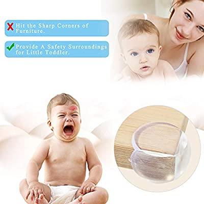 Corner Protector Clear & Soft Baby Proofing Corner Guards with Customized Sticky Adhesive, 8 Pack