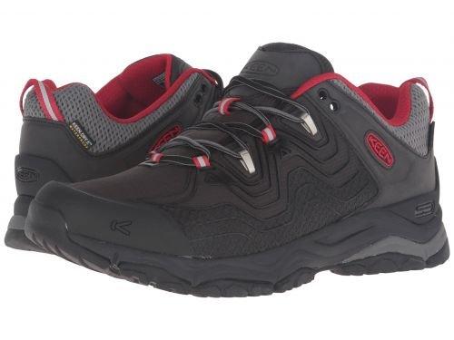 Keen(キーン) メンズ 男性用 シューズ 靴 スニーカー 運動靴 Aphlex Waterproof - Black/Tango [並行輸入品] B07BDP4194