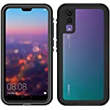 Waterproof Case for Huawei P20 Pro 360 Full Cover Protection Shell for Huawei P20 / P20 Pro Diving Underwater Shockproof Coque (Black,Huawei P20 PRO)